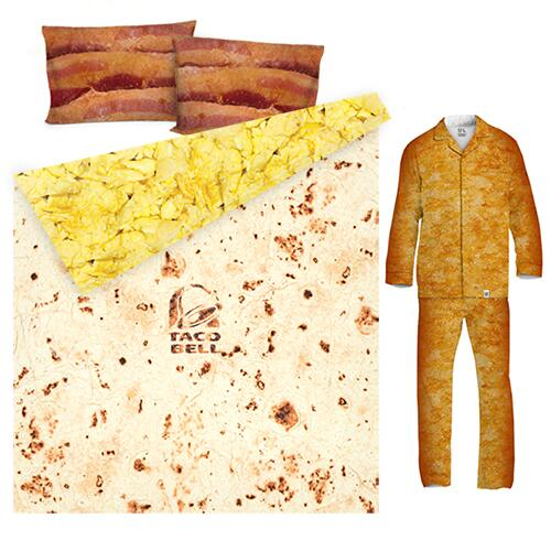 AM Crunchwrap Sheets and Hashbrown Pajamas